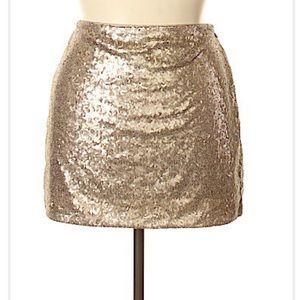 GAP gold/silver sequin mini skirt